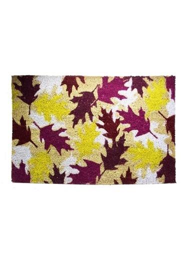 Giz Home Koko Kapı Paspası 50X75 Yaprak Renkli
